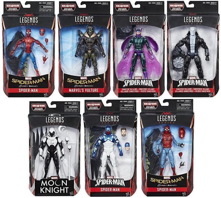 set marvel legends spider-man